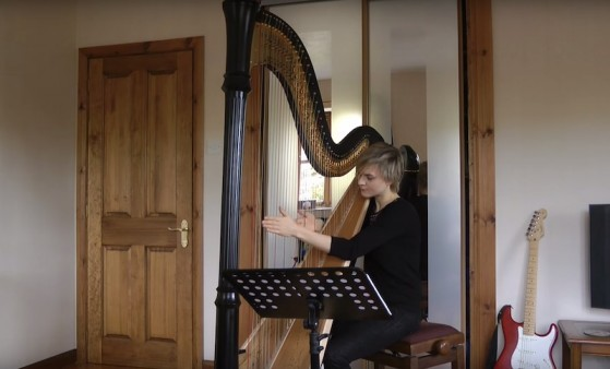 alexandra king harp video